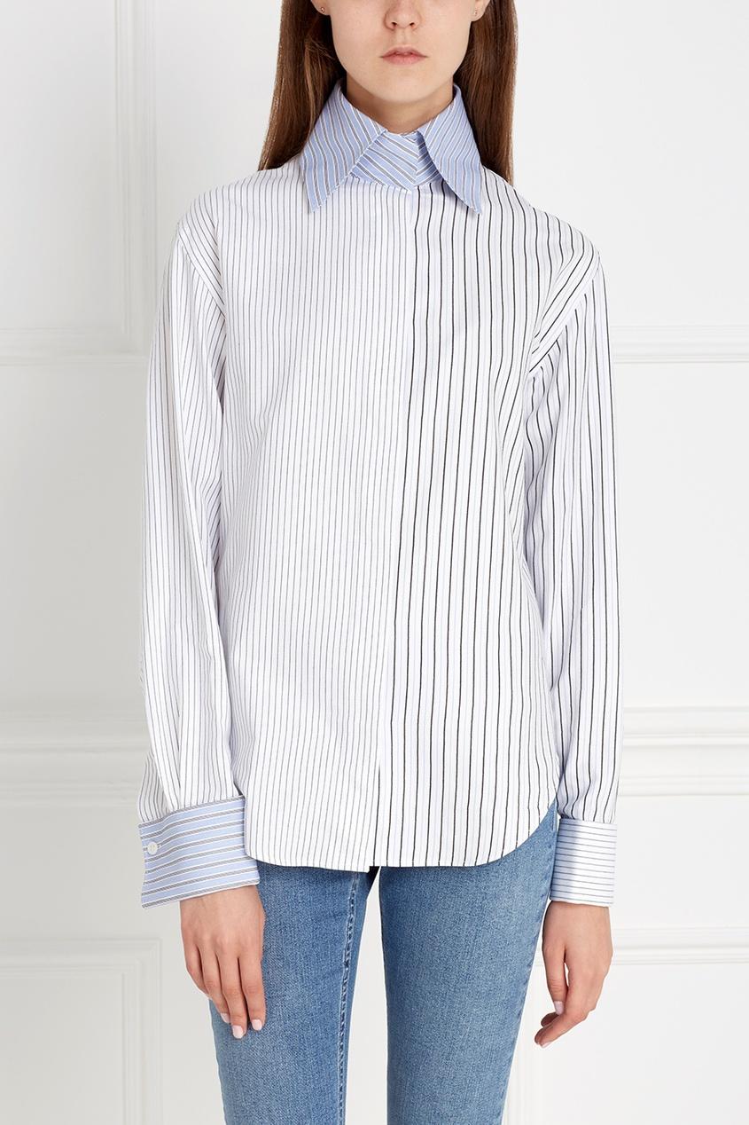 Acne Studios Хлопковая рубашка Slade Stripe