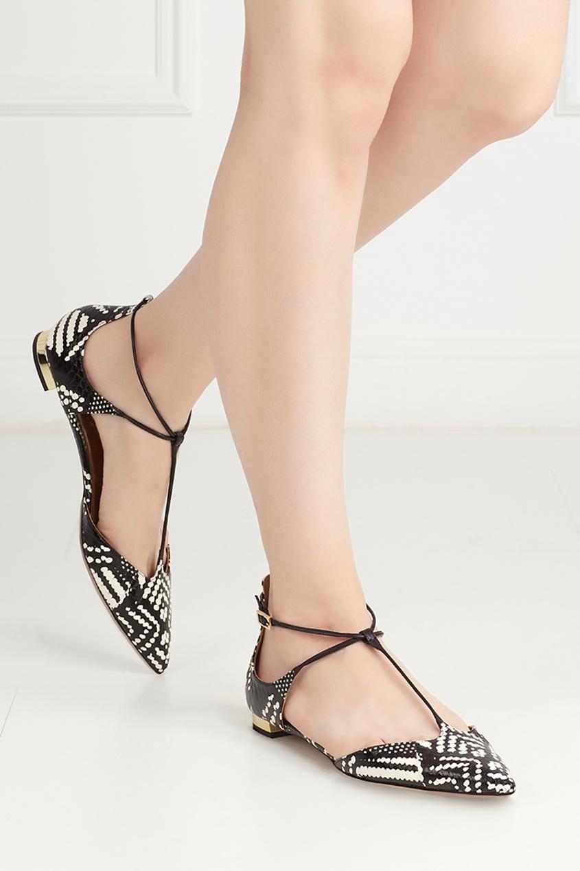 Туфли из кожи змеи Scarlet