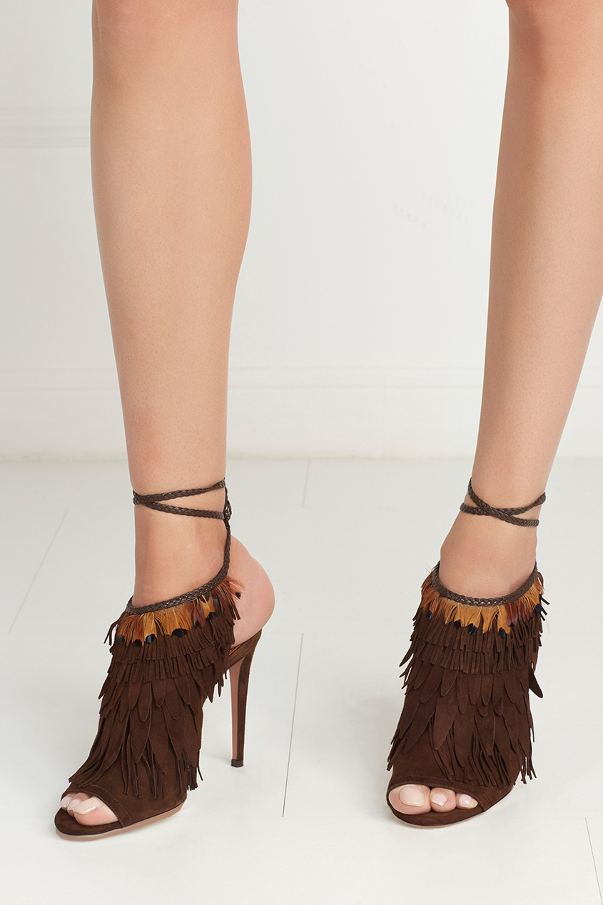 Замшевые босоножки Pocahontas