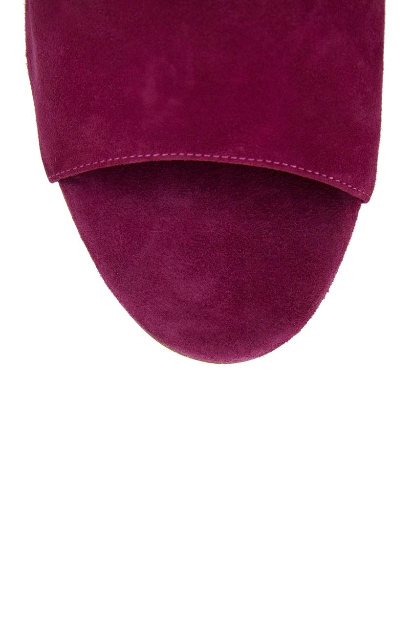 Фото 5 - Замшевые босоножки Ami 105 от Aquazzura розового цвета