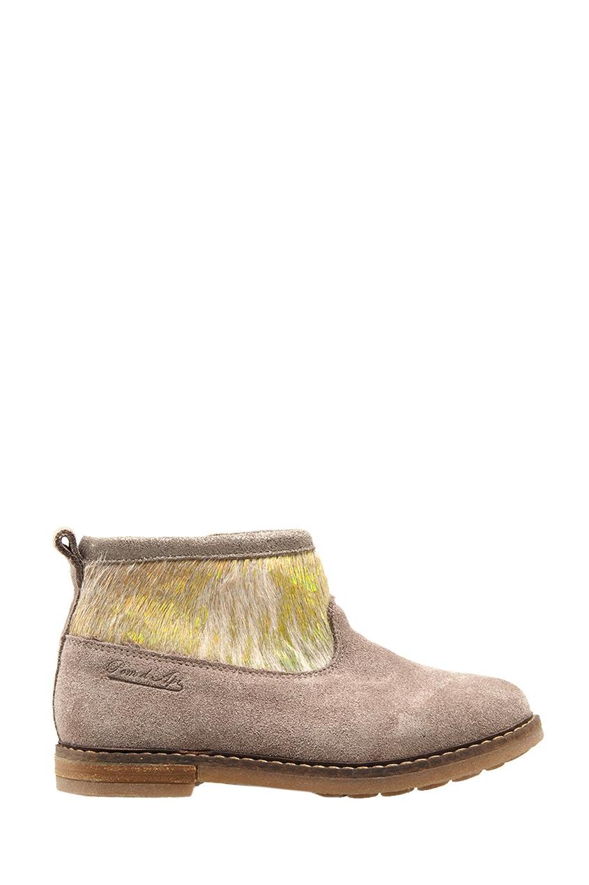 Pom D'Api Замшевые ботинки с мехом пони Trip Boots Mid