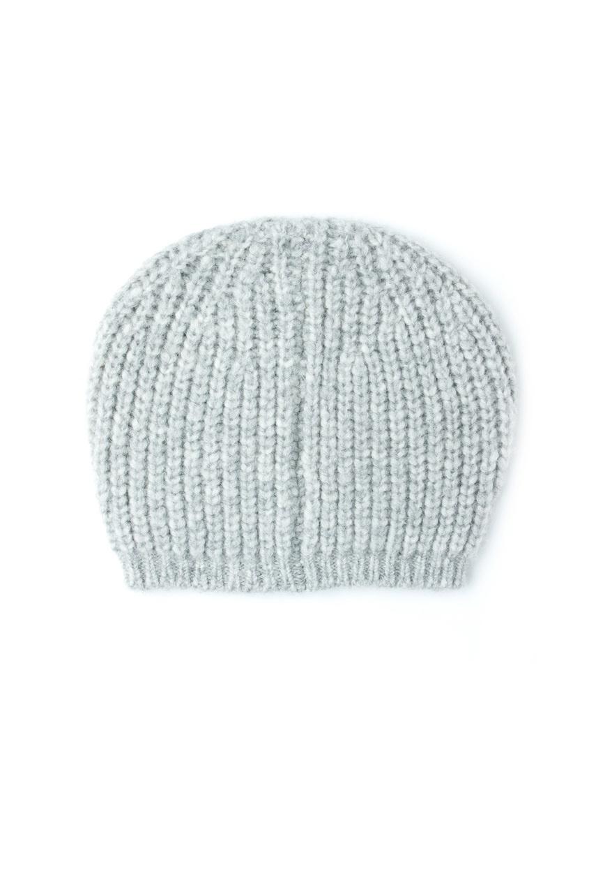 Серая вязаная шапка - нет в наличии