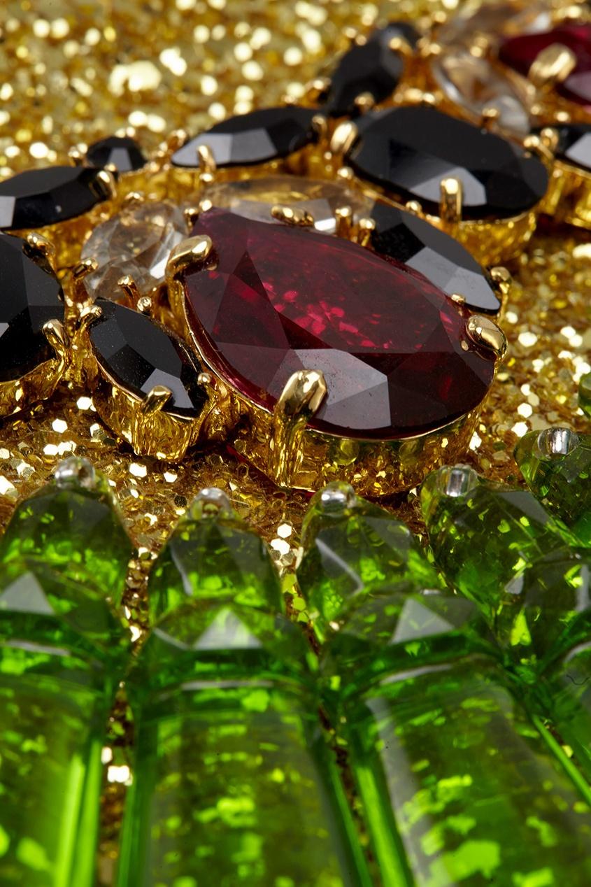 Фото 2 - Клатч с кристаллами от Mawi цвет multicolor