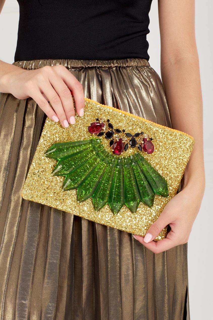 Фото 4 - Клатч с кристаллами от Mawi цвет multicolor