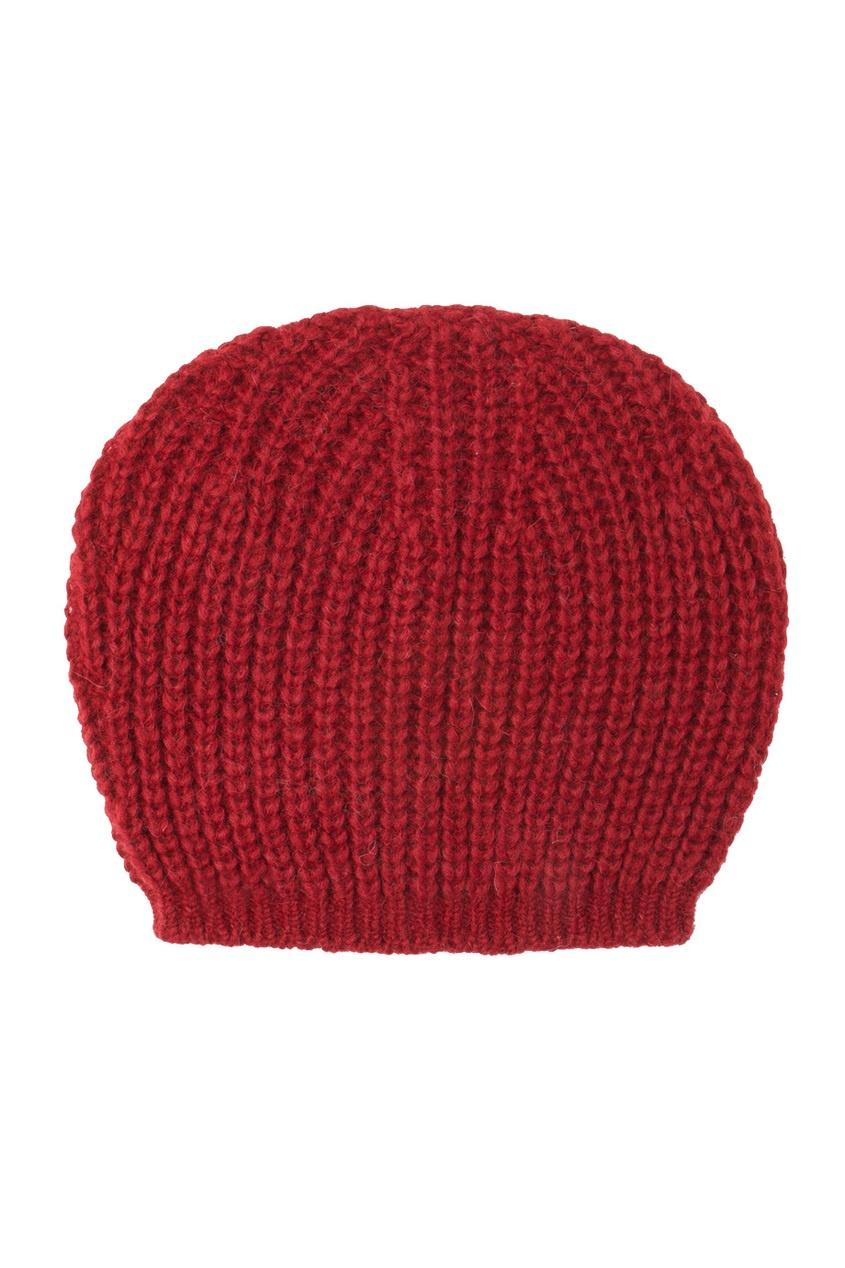 Красная вязаная шапка - нет
