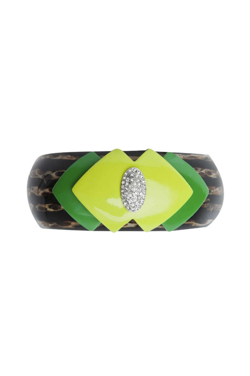 Браслет из латуни, камней и кристаллов