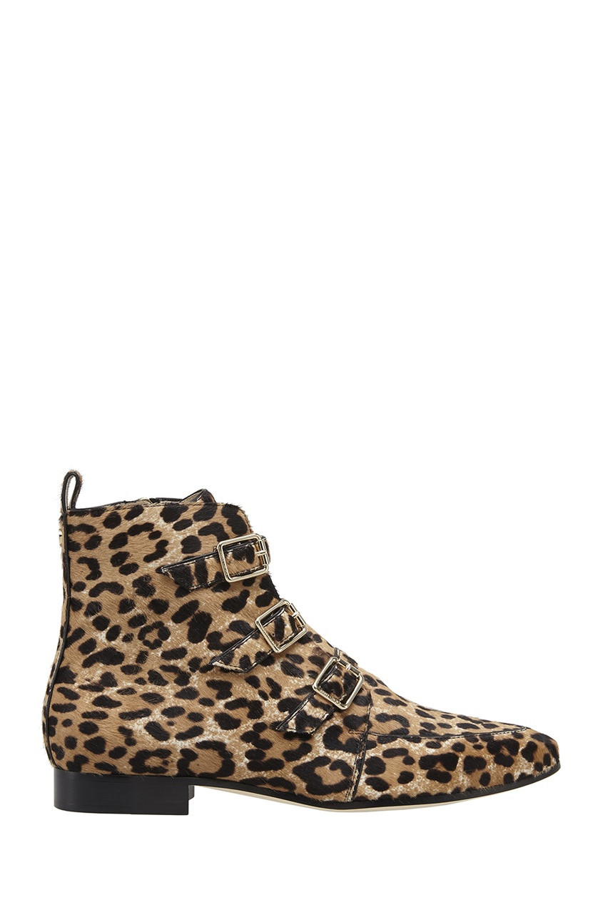 Фото 2 - Ботинки из меха пони Marlin от Jimmy Choo коричневого цвета