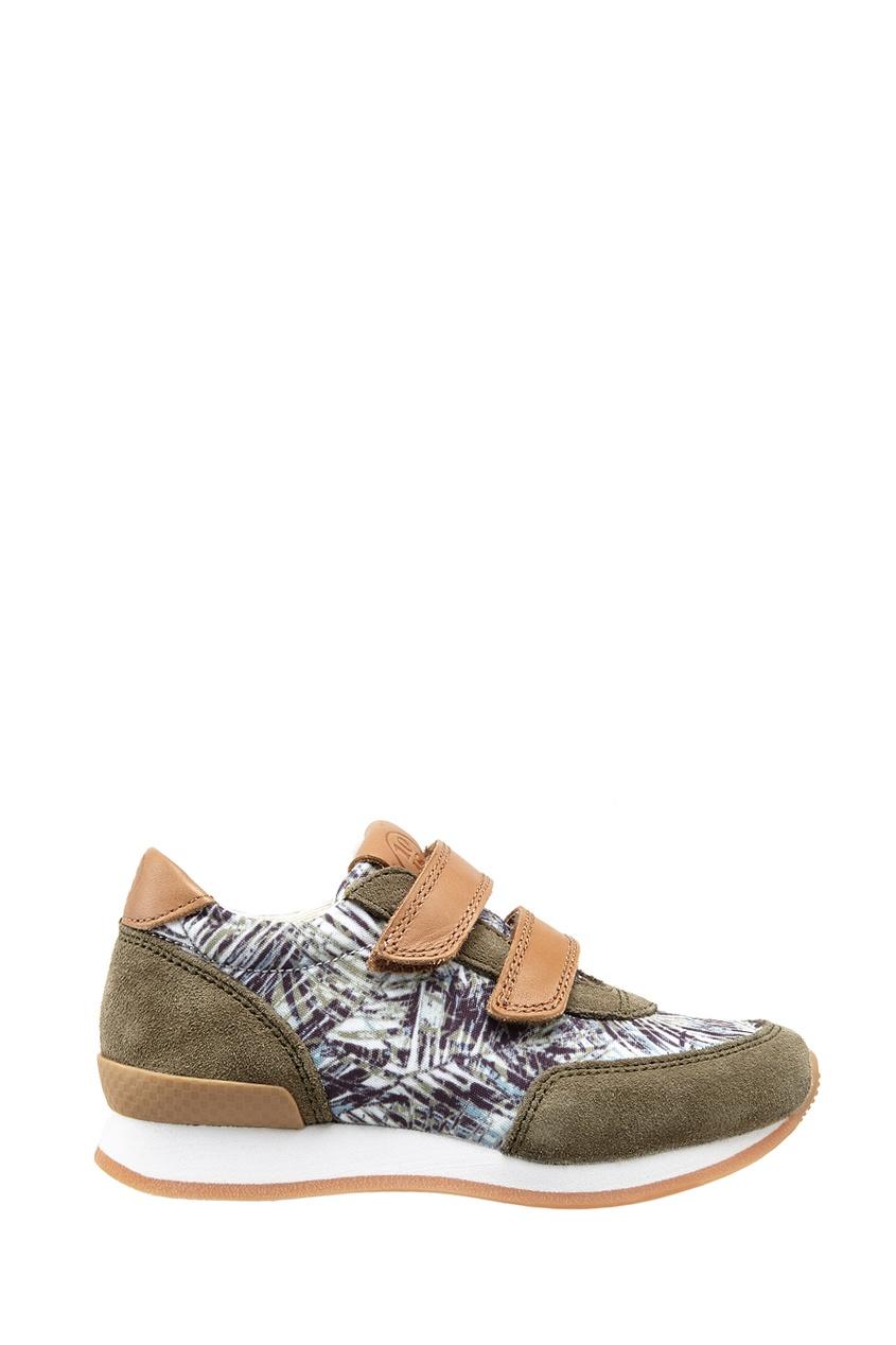Замшевые кроссовки Ten J Velcro