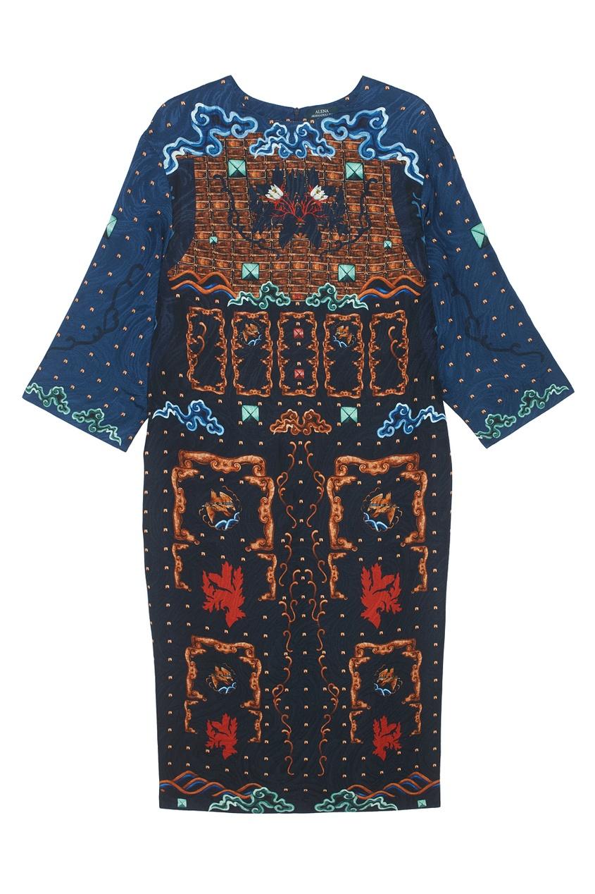 Фото - Платье из шерсти и шелка от Alena Akhmadullina цвет multicolor