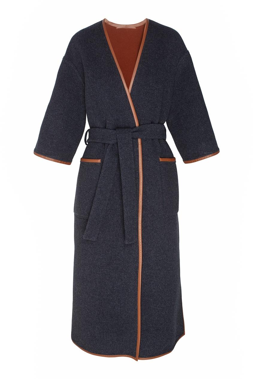 Шерстяное двухстороннее пальто