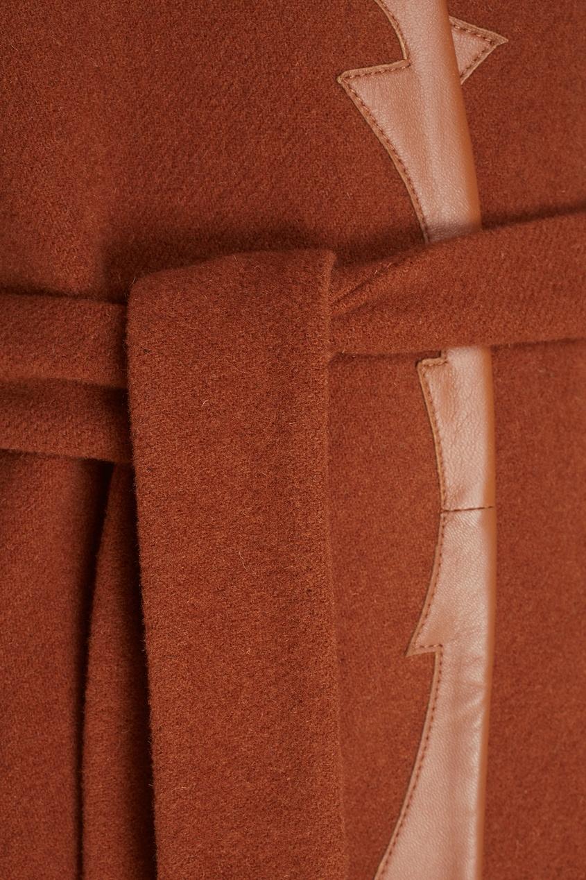 Фото 2 - Шерстяное двухстороннее пальто от Alena Akhmadullina коричневого цвета