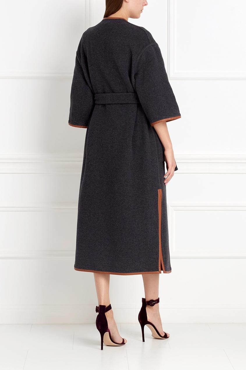 Фото 3 - Шерстяное двухстороннее пальто от Alena Akhmadullina коричневого цвета