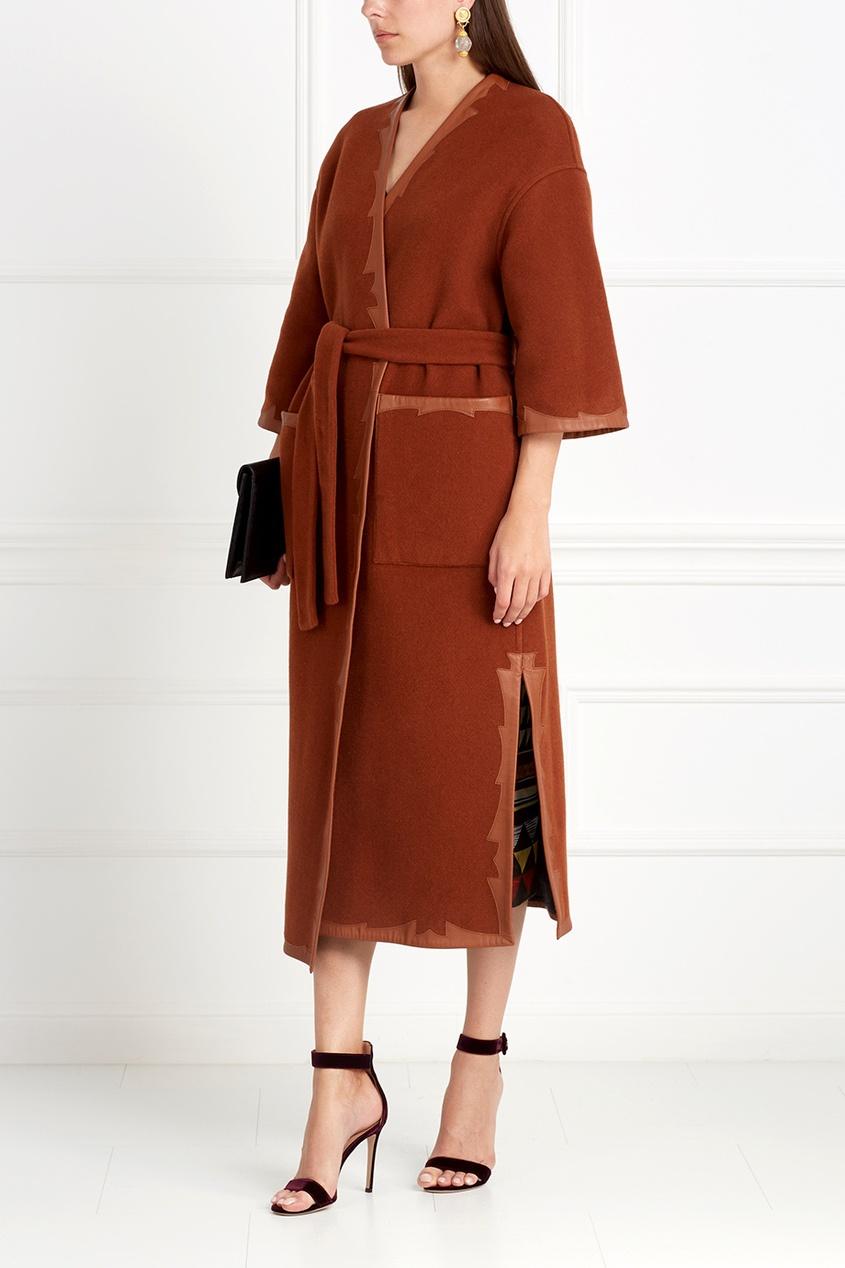 Фото 4 - Шерстяное двухстороннее пальто от Alena Akhmadullina коричневого цвета