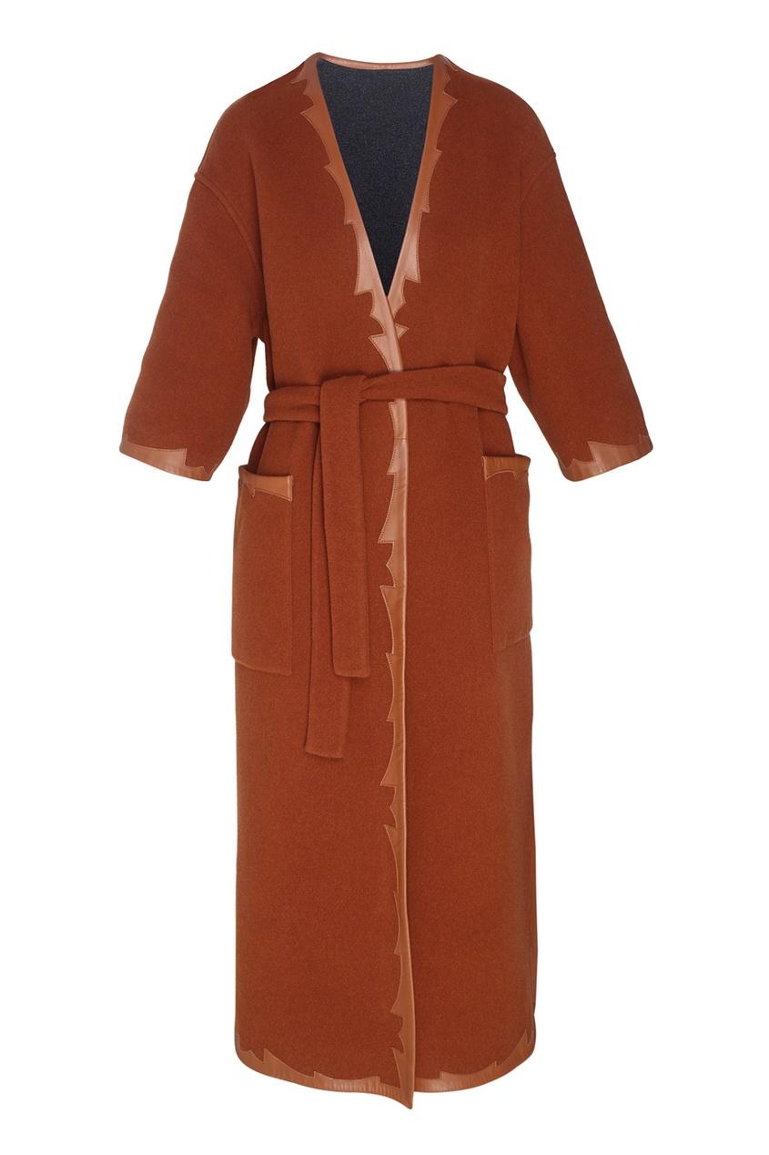 Фото 6 - Шерстяное двухстороннее пальто от Alena Akhmadullina коричневого цвета