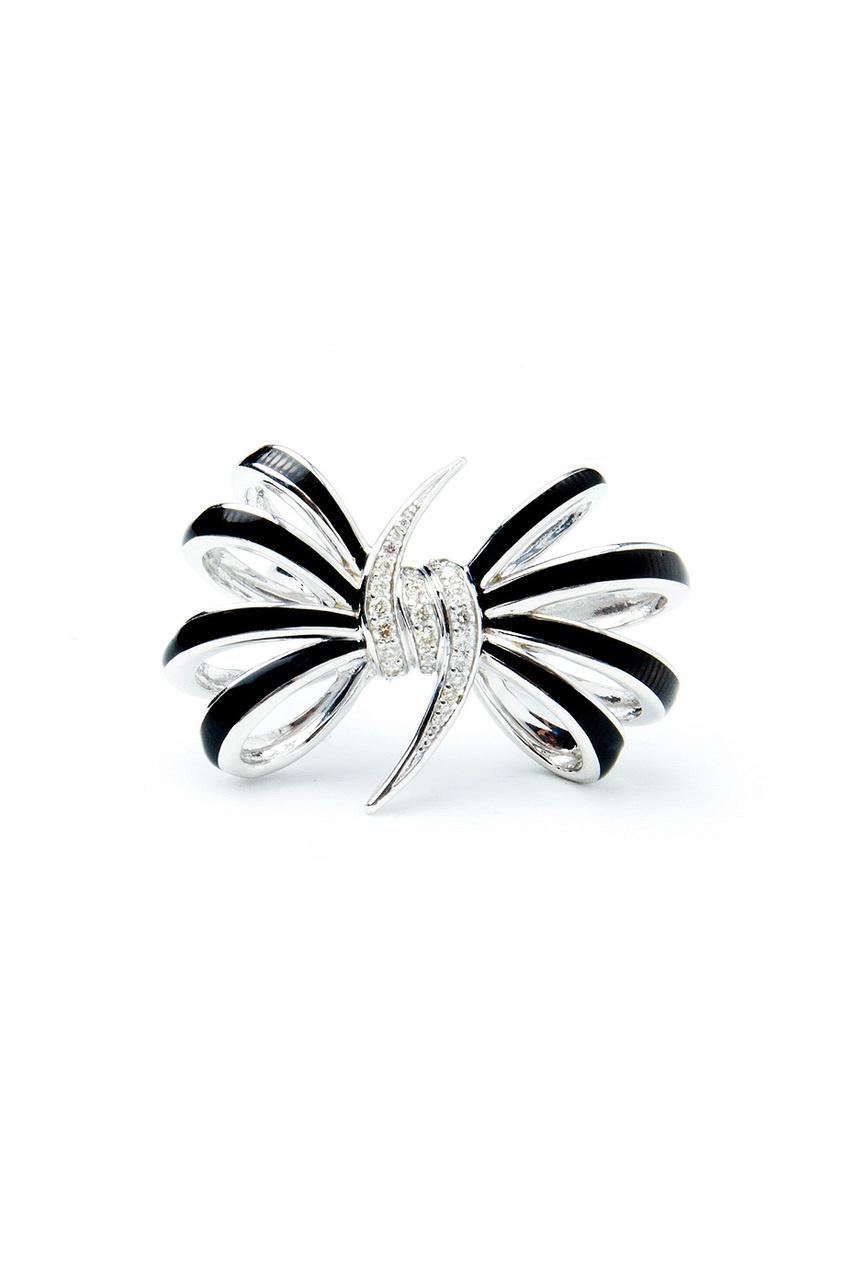 Серебряное кольцо в виде бантика