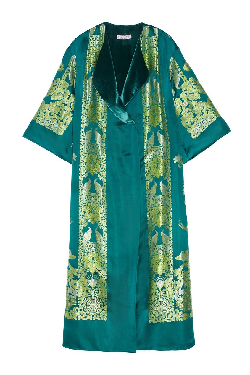 Шелковый халат Irma de Flore