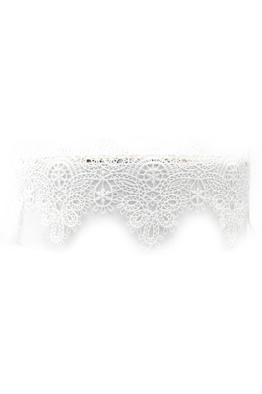 где купить Lisa Smith Кружевной чокер белый по лучшей цене