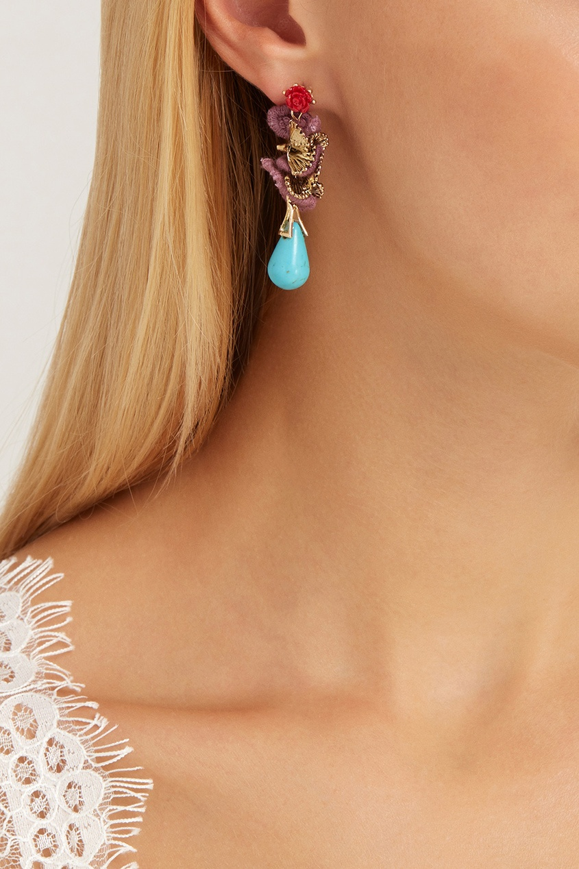 Lisa Smith Серьги с кристаллами lisa corti короткое платье