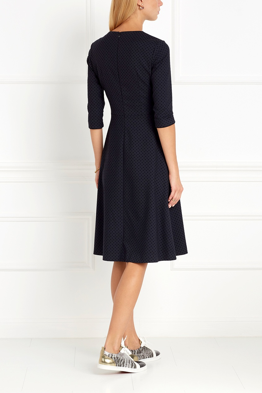 Фото 3 - Платье в горох от Freshblood синего цвета
