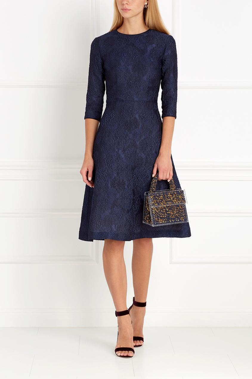 Фото 2 - Платье силуэта new look от Freshblood синего цвета