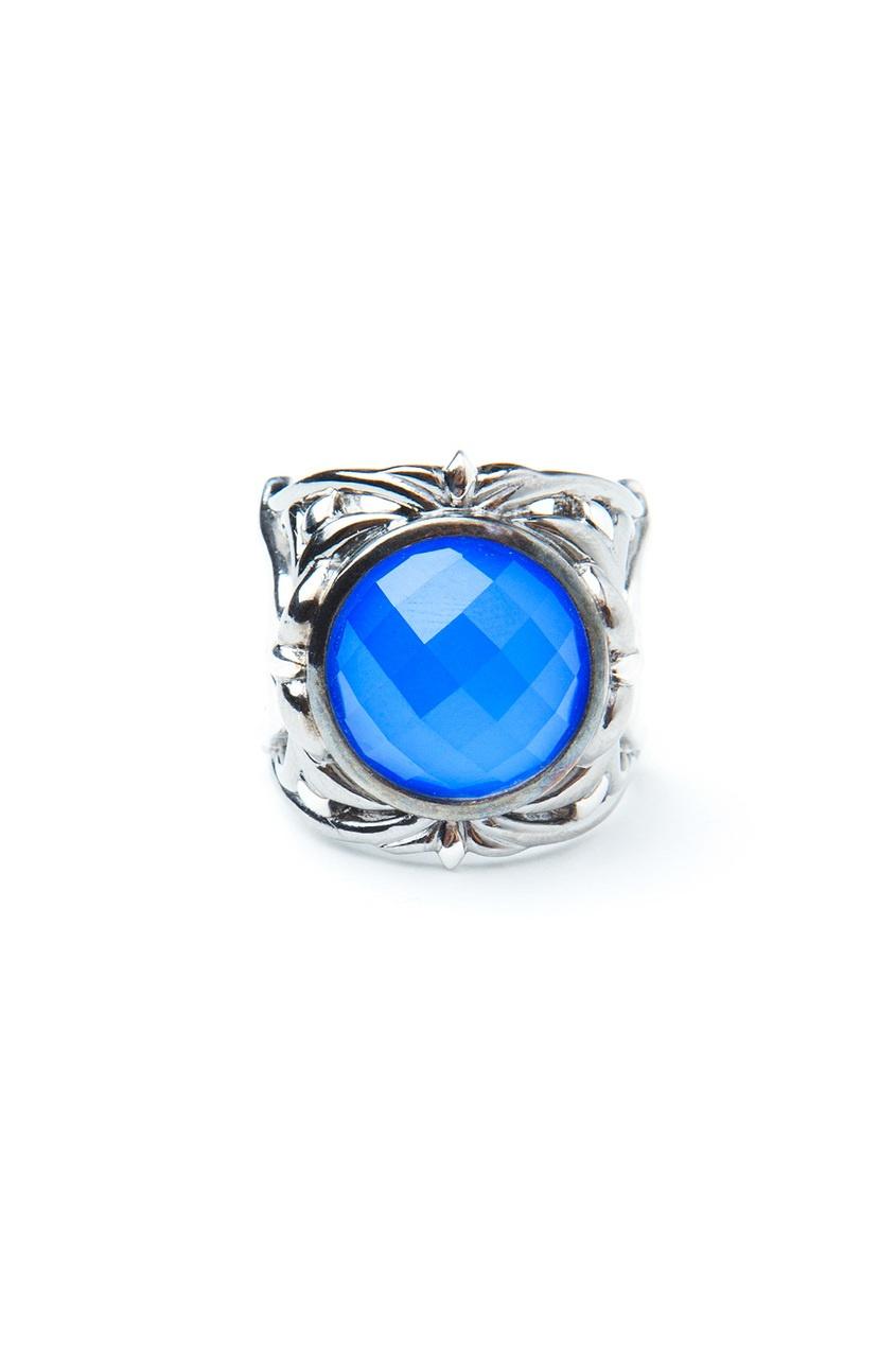 Серебряное кольцо с бирюзовым агатом