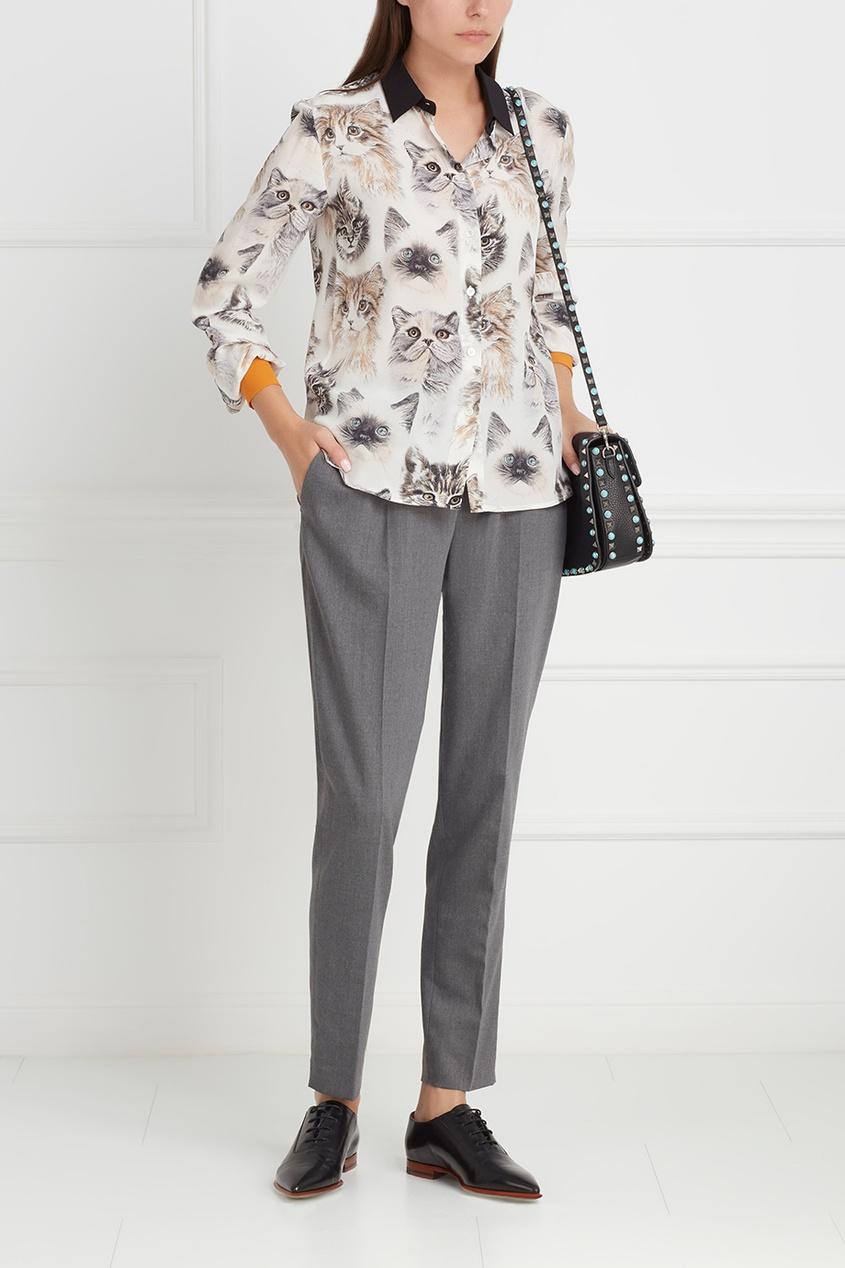 Фото 5 - Шелковая блузка от Stella McCartney цвет multicolor