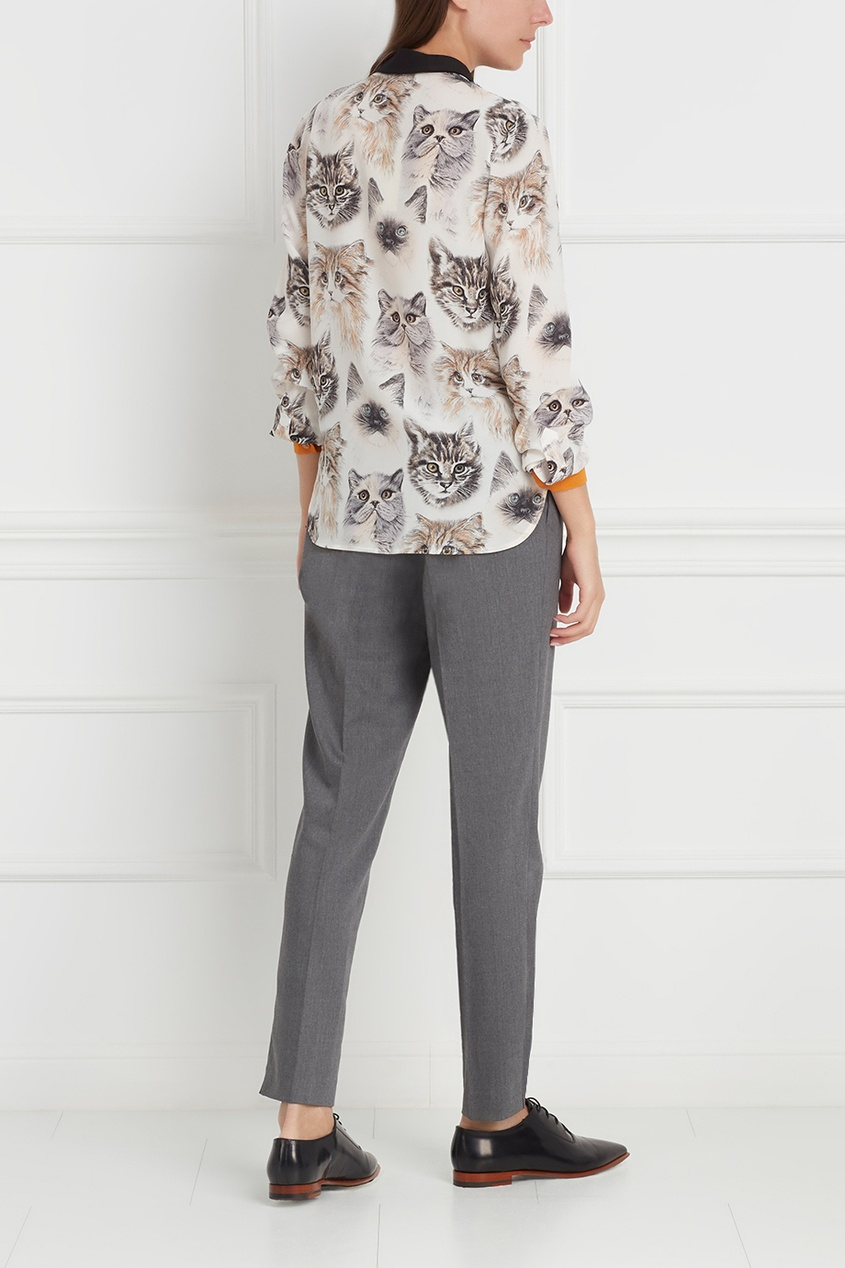 Фото 6 - Шелковая блузка от Stella McCartney цвет multicolor