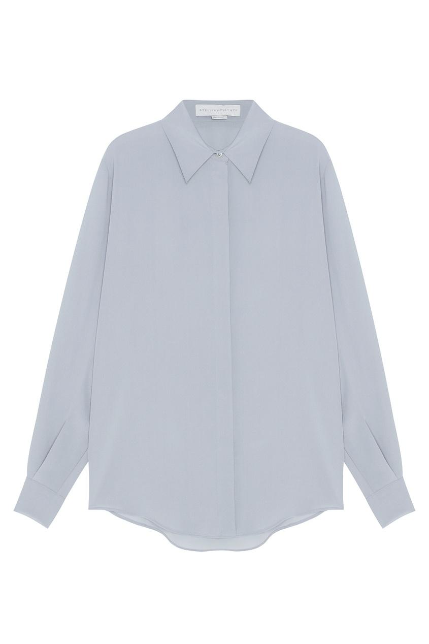 Фото 2 - Шелковая блузка от Stella McCartney серого цвета
