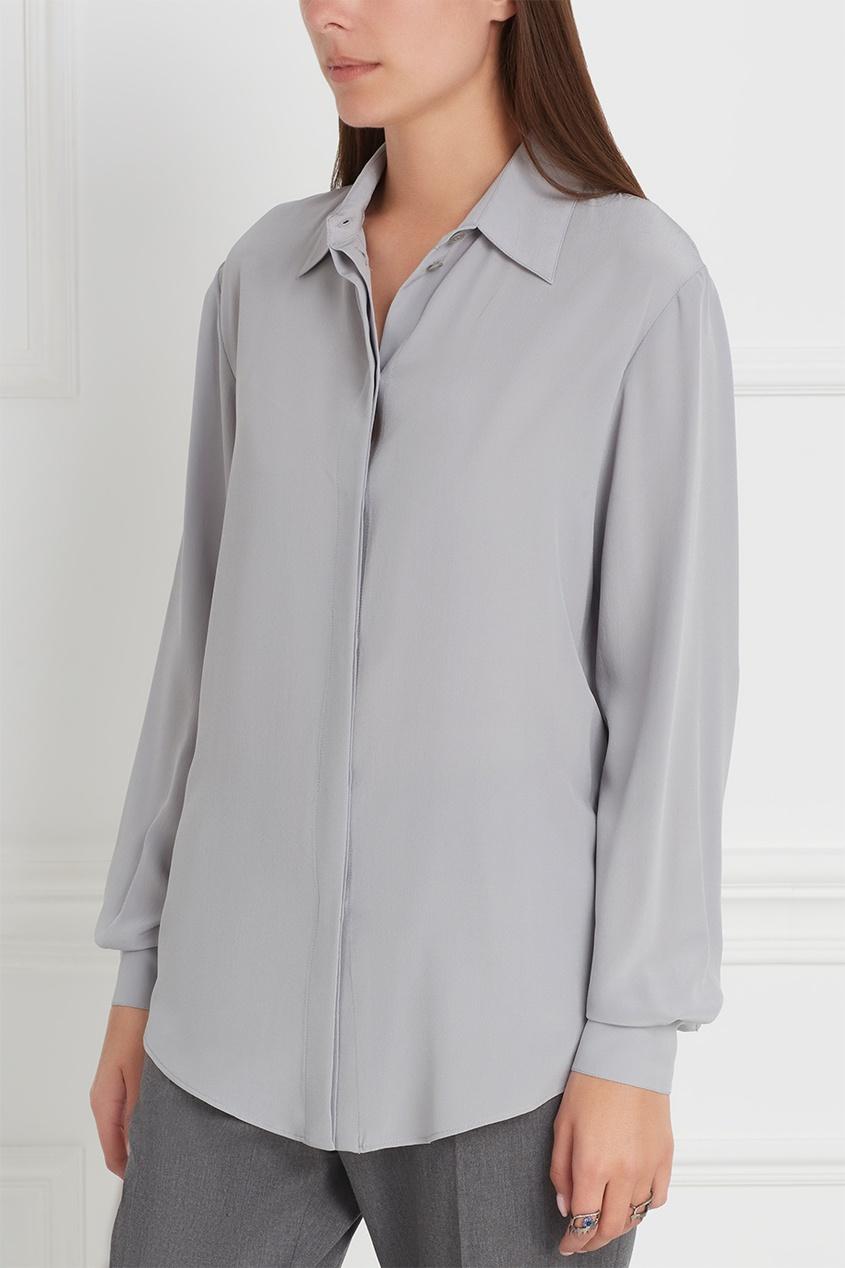 Фото 3 - Шелковая блузка от Stella McCartney серого цвета