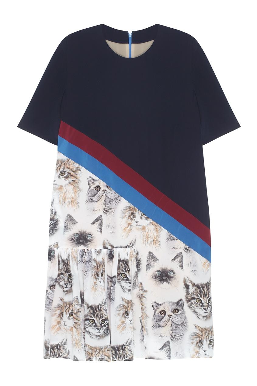 Фото - Шелковое платье от Stella McCartney цвет multicolor