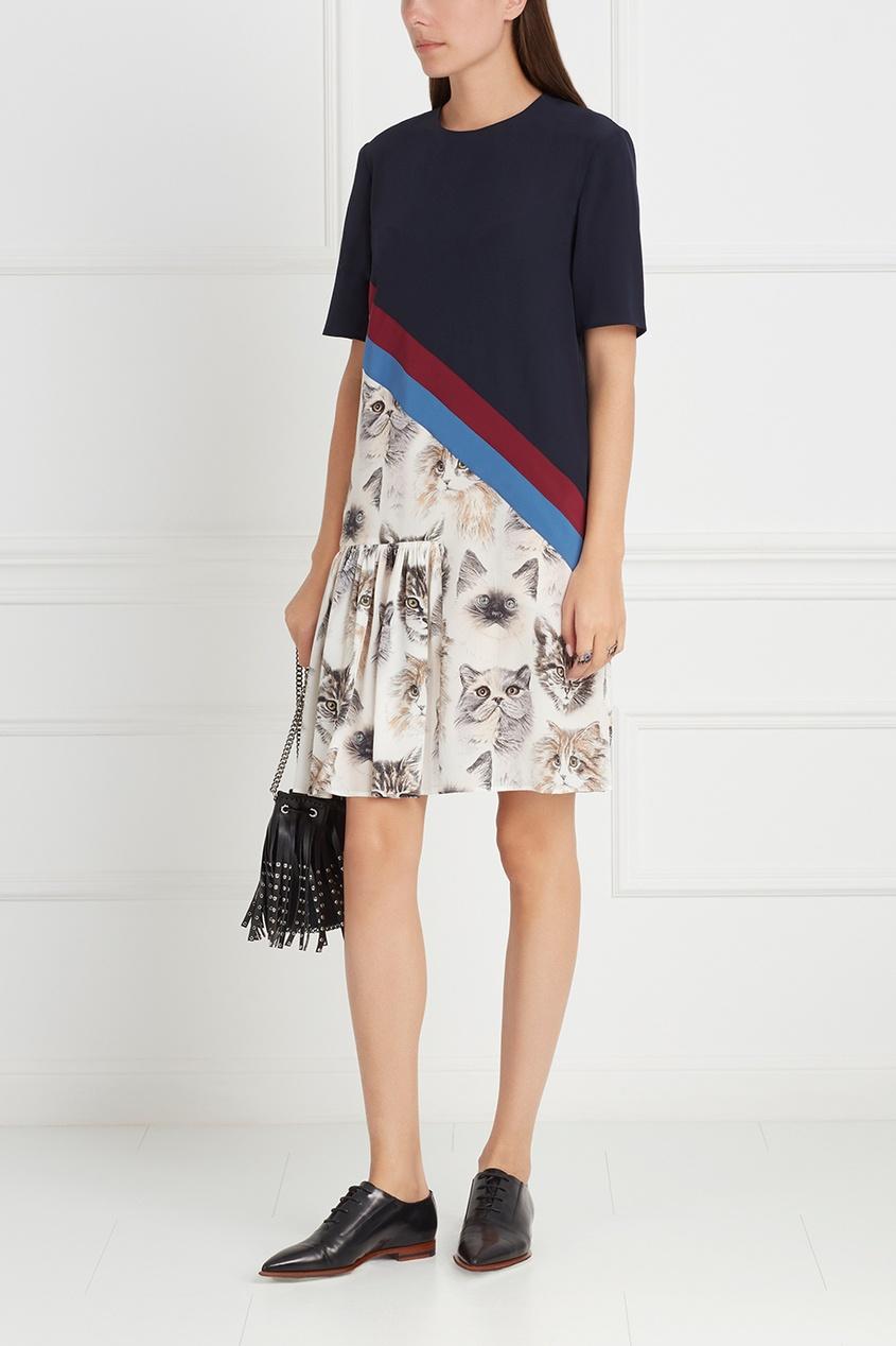 Фото 3 - Шелковое платье от Stella McCartney цвет multicolor