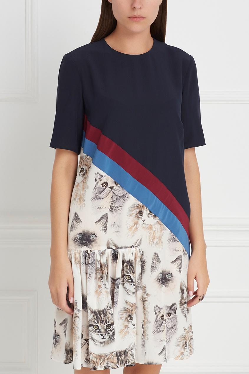 Фото 5 - Шелковое платье от Stella McCartney цвет multicolor