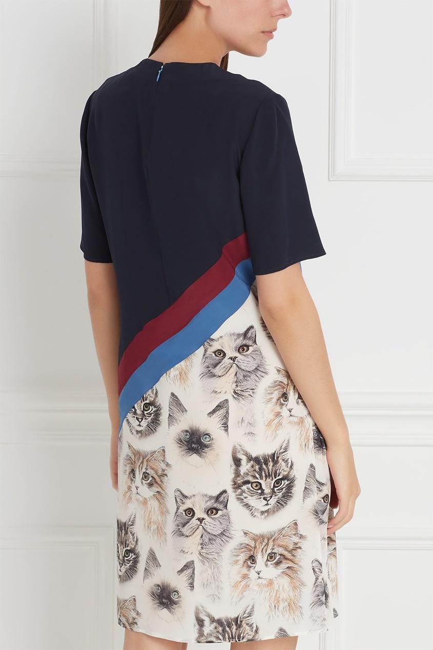 Фото 6 - Шелковое платье от Stella McCartney цвет multicolor
