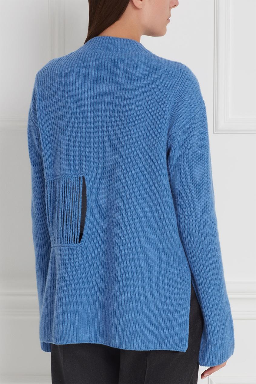 Фото 5 - Кашемировый джемпер от Stella McCartney голубого цвета
