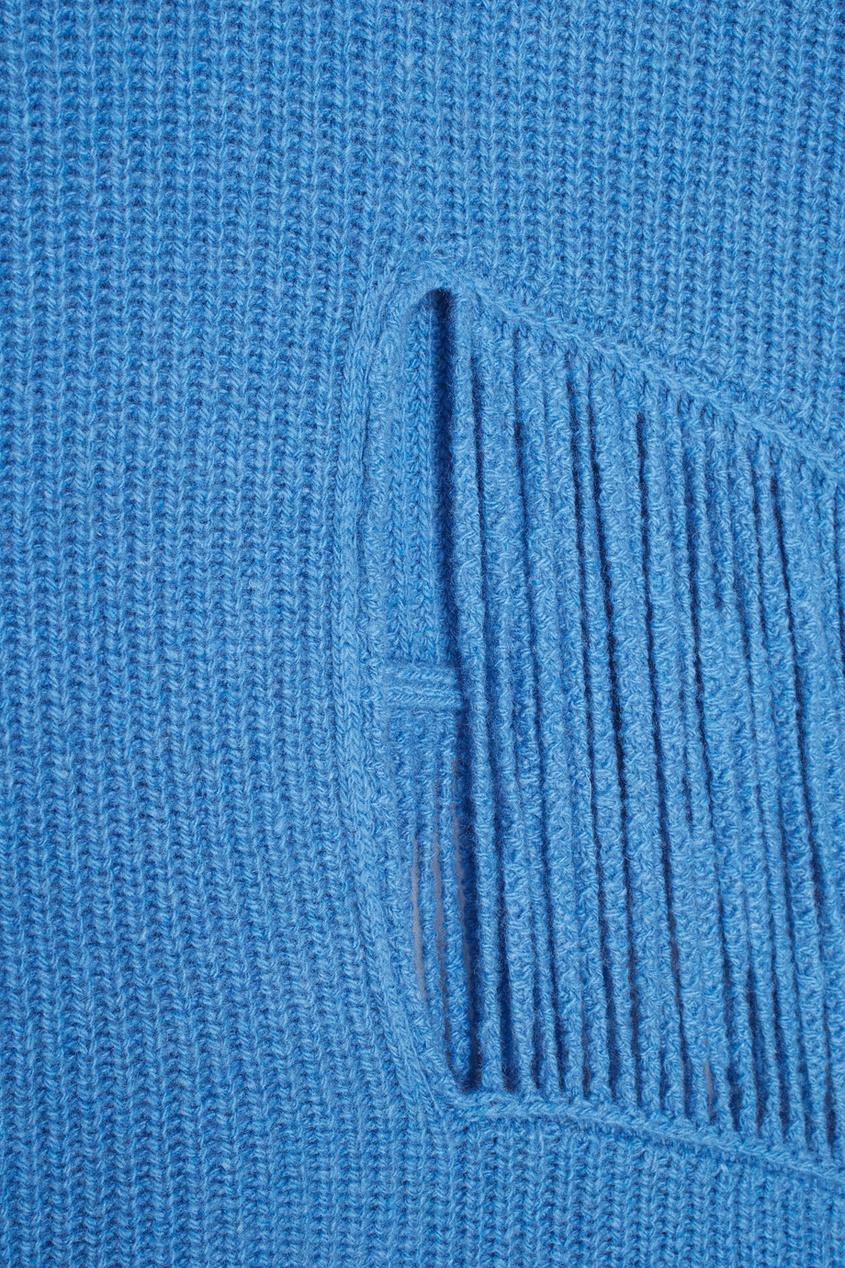 Фото 6 - Кашемировый джемпер от Stella McCartney голубого цвета