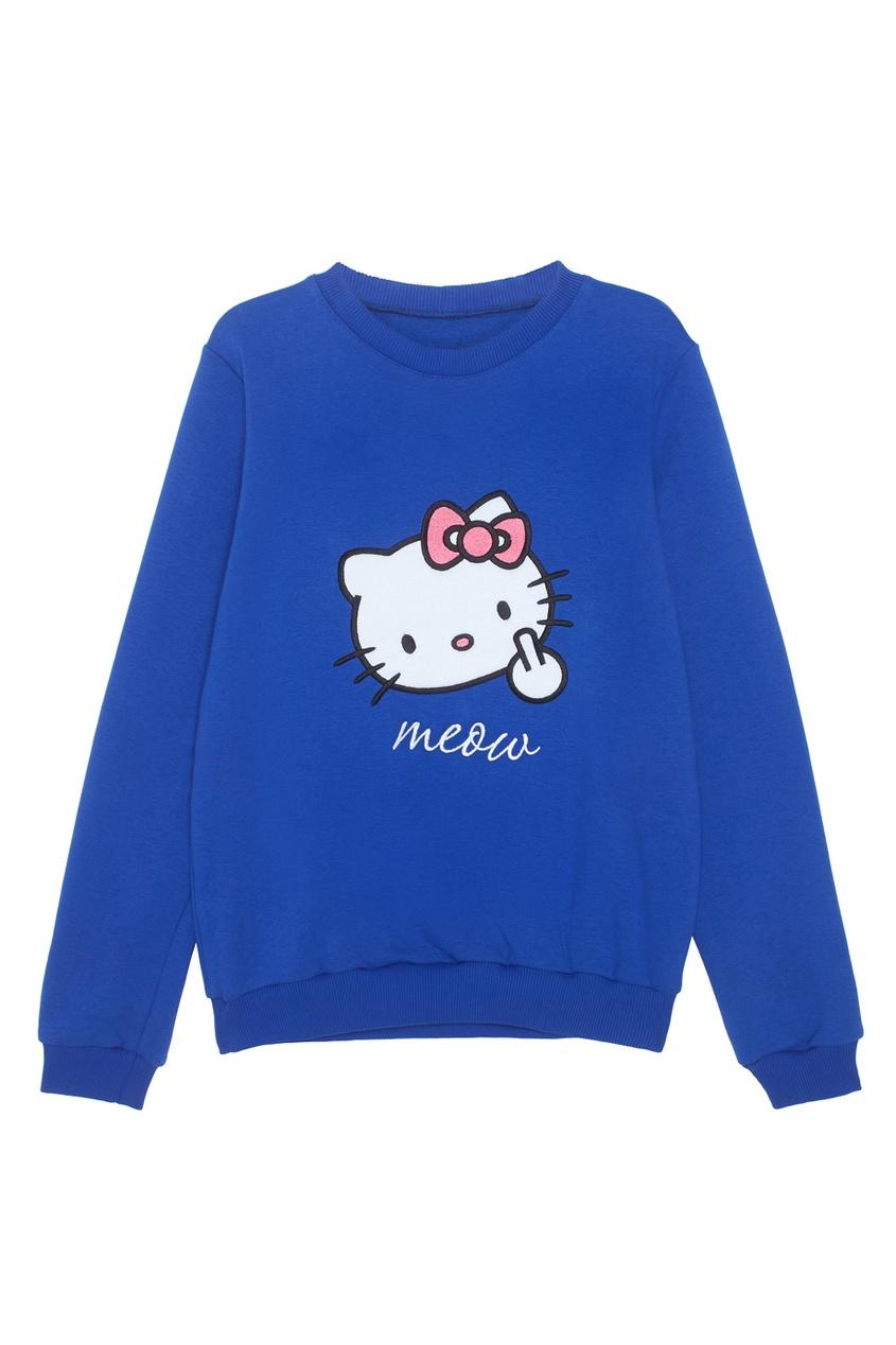 Хлопковый свитшот Meow