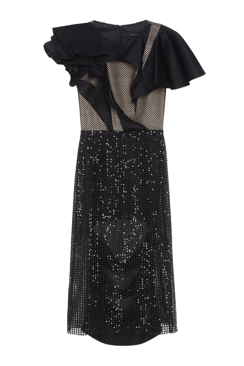 Фото - Платье с пайетками от Chapurin черного цвета