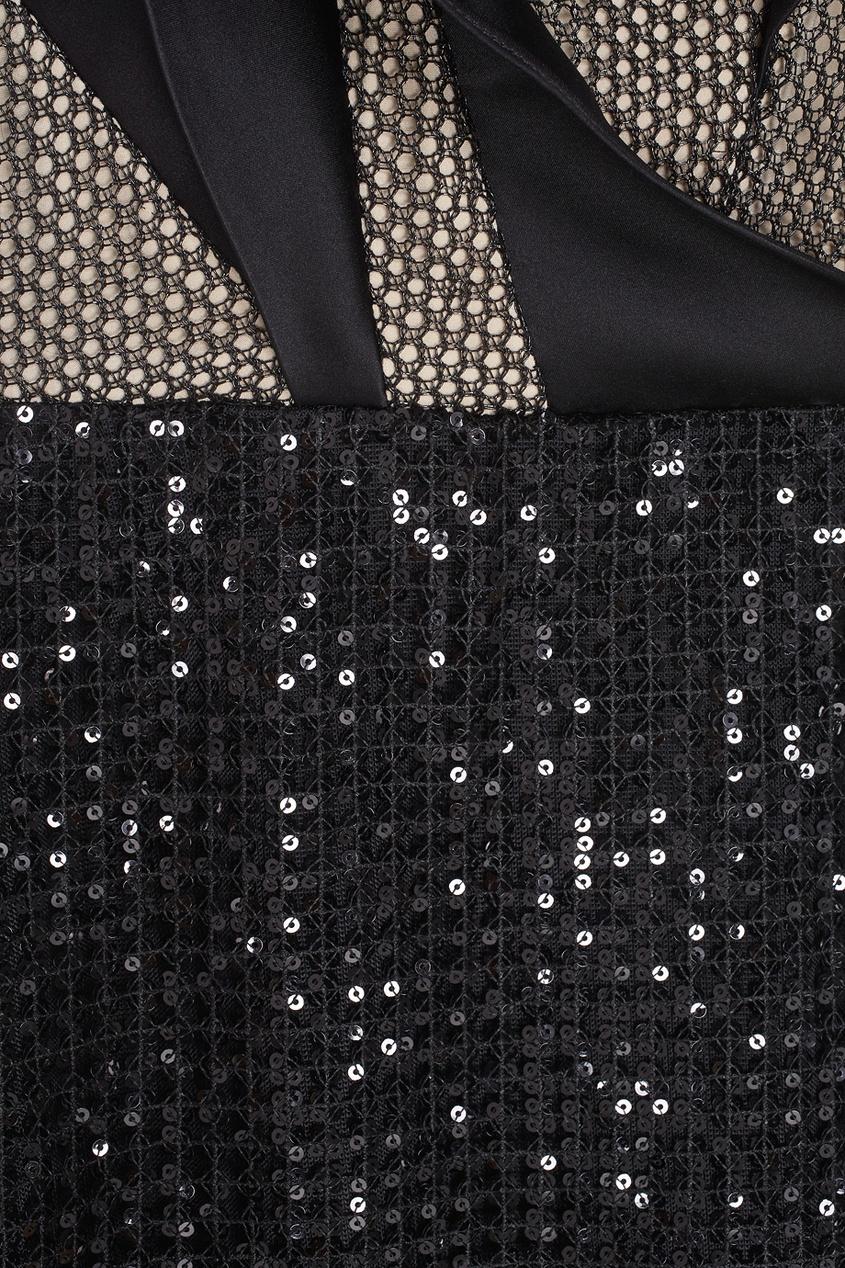 Фото 2 - Платье с пайетками от Chapurin черного цвета