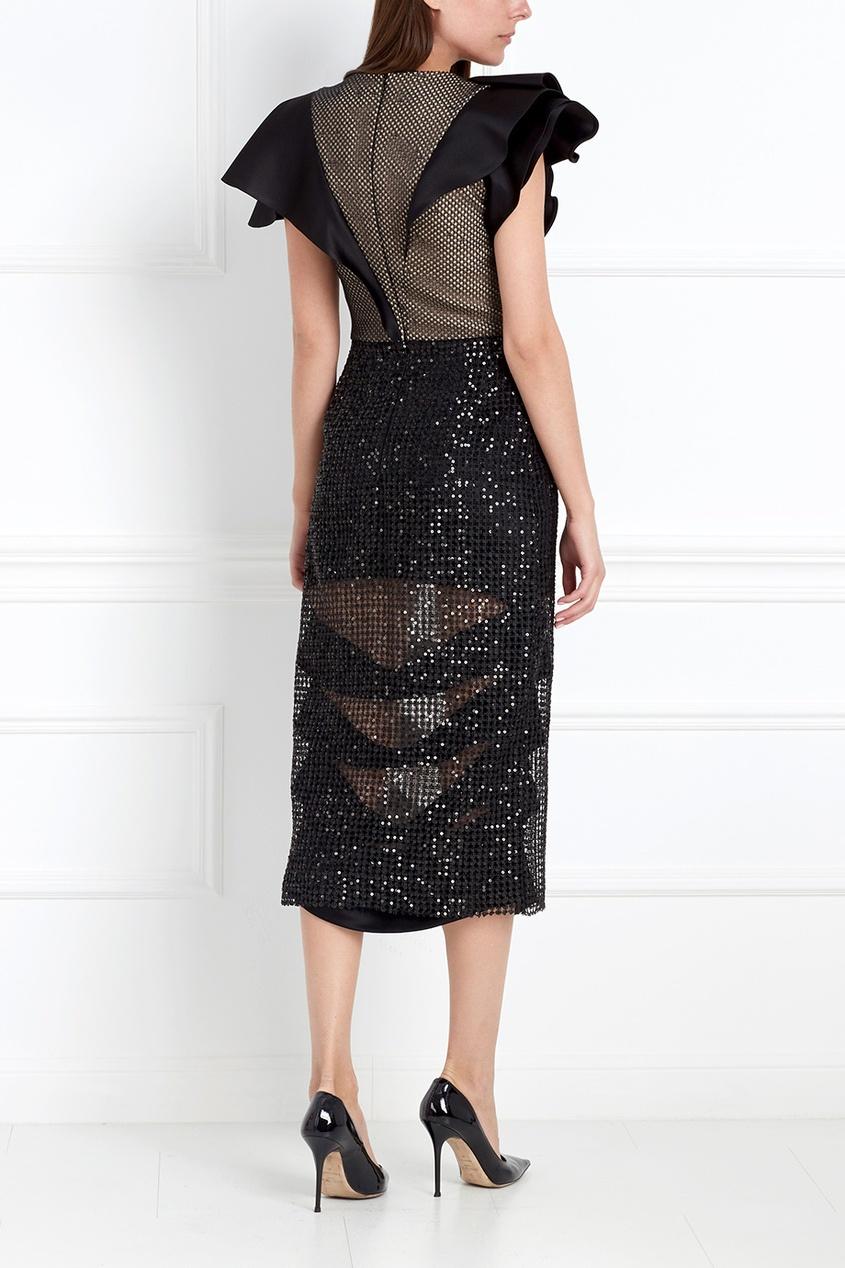Фото 4 - Платье с пайетками от Chapurin черного цвета