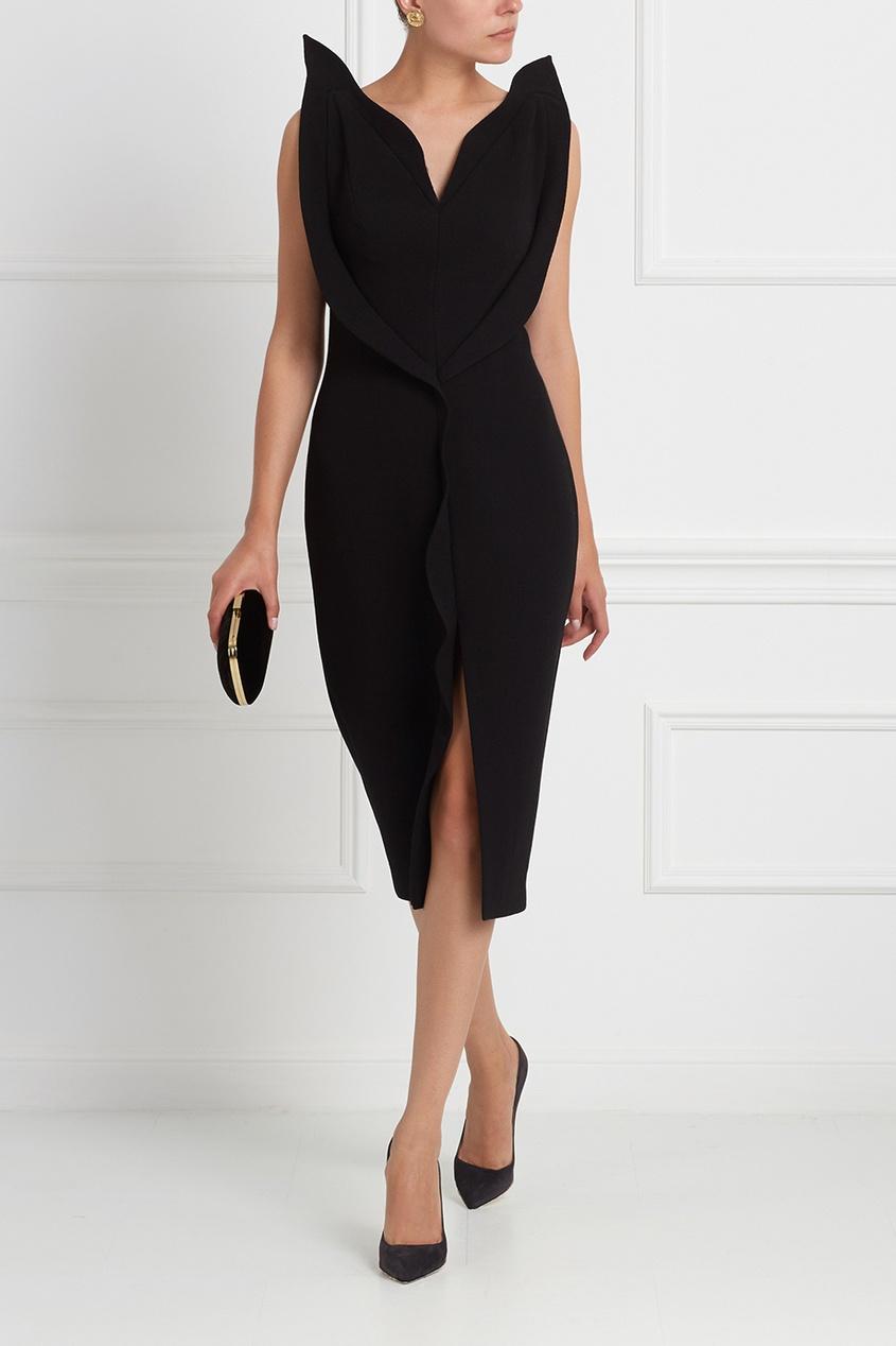Фото 3 - Шерстяное платье от Chapurin черного цвета