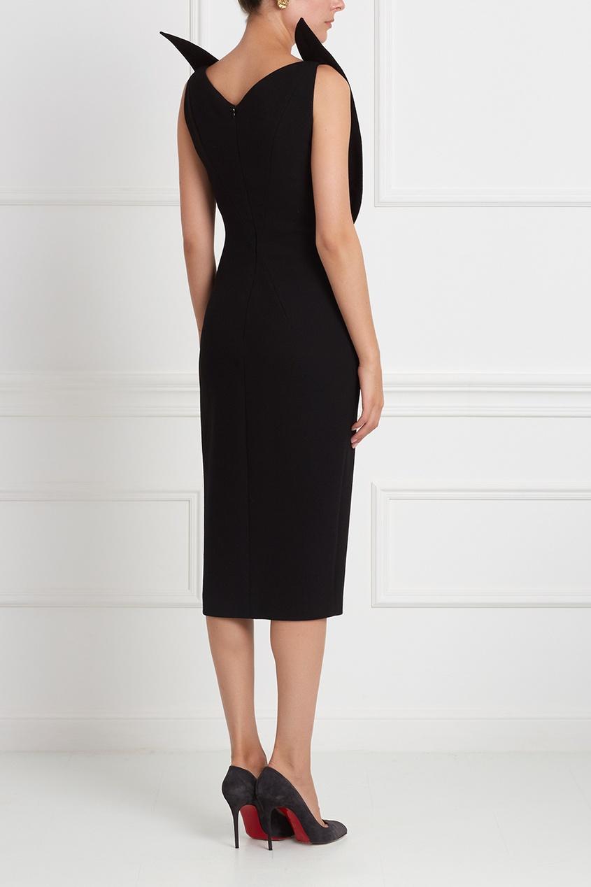 Фото 4 - Шерстяное платье от Chapurin черного цвета