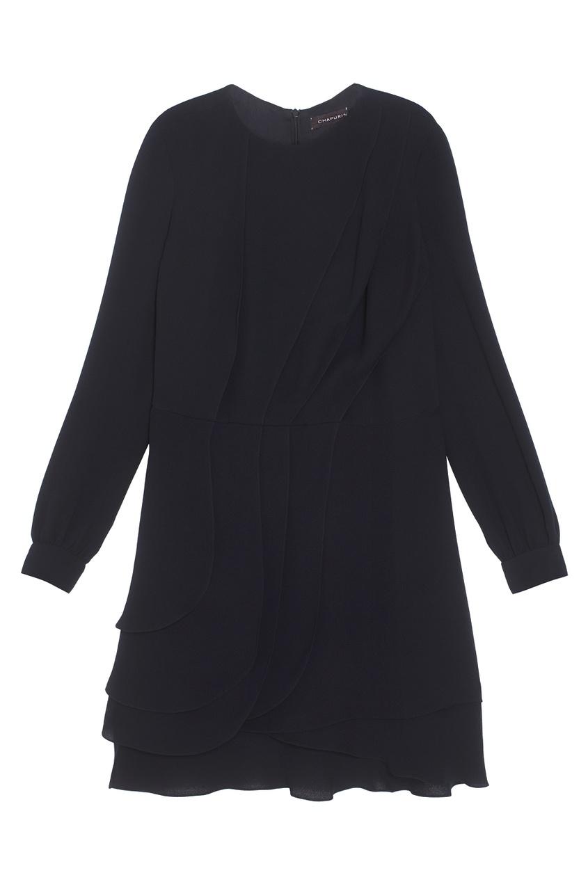 Фото 2 - Шелковое платье от Chapurin черного цвета