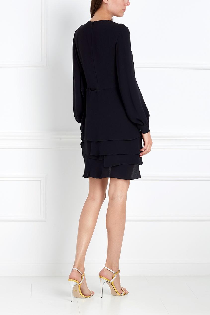 Фото 5 - Шелковое платье от Chapurin черного цвета