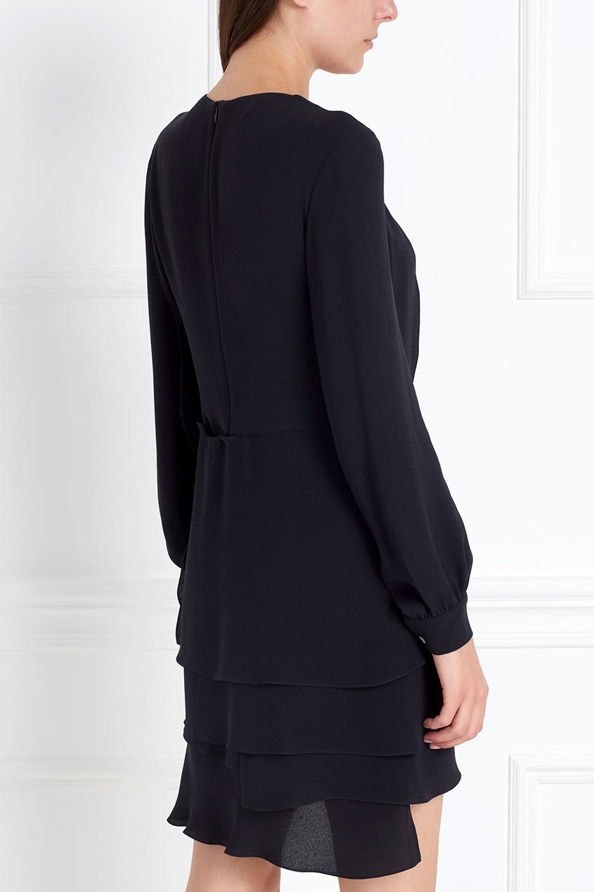 Фото 6 - Шелковое платье от Chapurin черного цвета