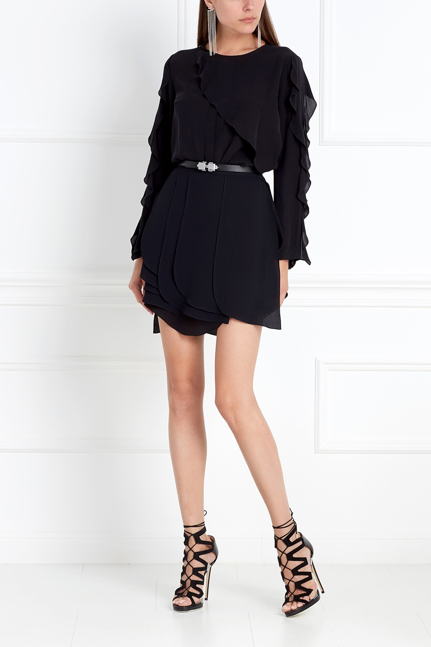 Фото 3 - Шелковая блузка от Chapurin черного цвета