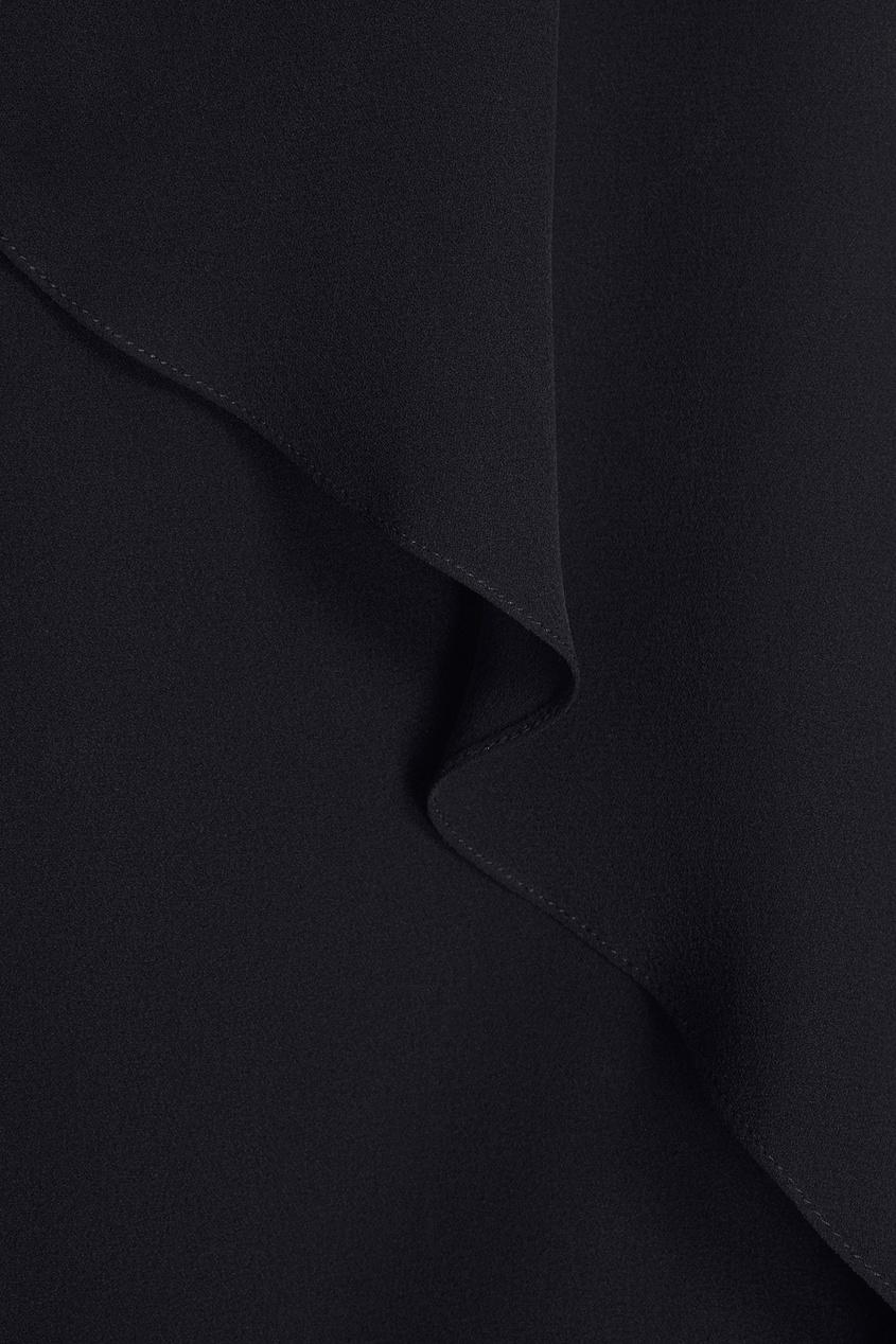 Фото 6 - Шелковая блузка от Chapurin черного цвета