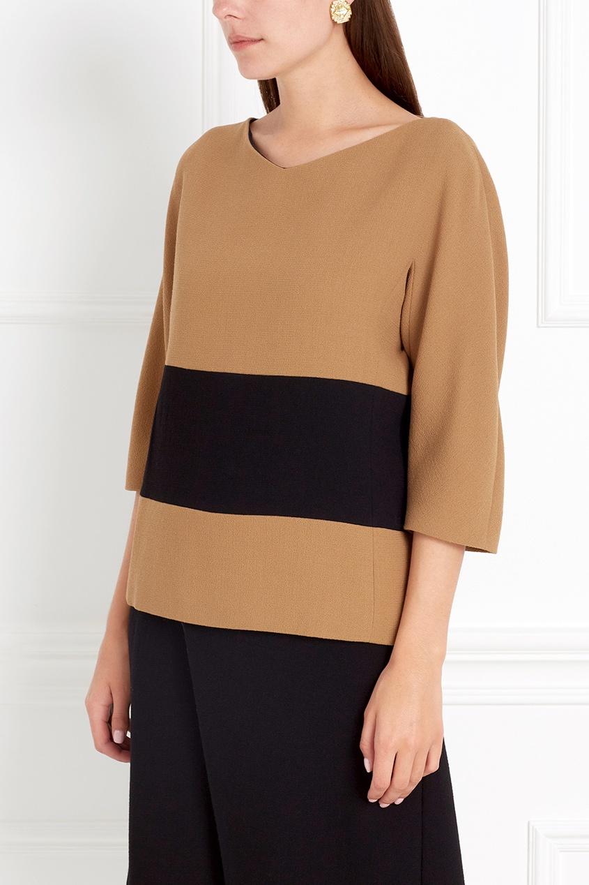 Фото 6 - Шерстяная блузка от Chapurin цвет multicolor