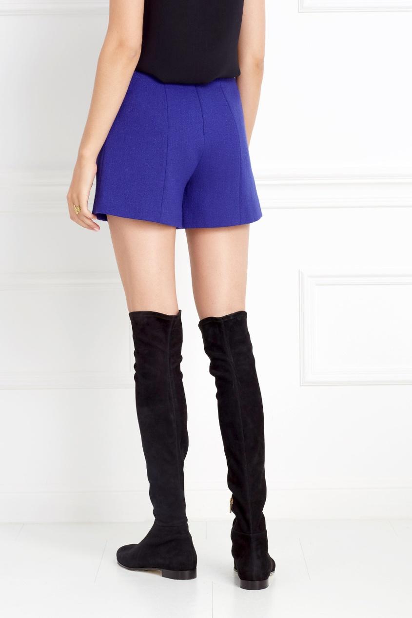 Фото 2 - Шерстяные шорты от Chapurin синего цвета