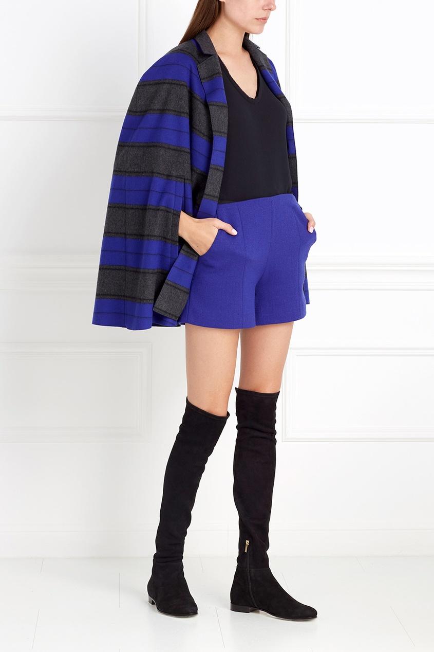 Фото 5 - Шерстяные шорты от Chapurin синего цвета