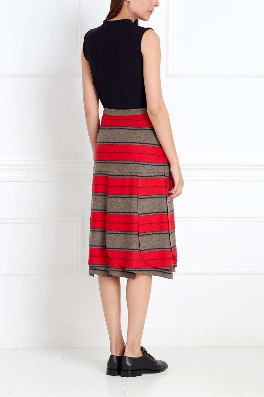 Фото 2 - Шерстяная юбка от Chapurin цвет multicolor